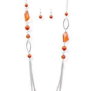 Vintage Paparazzi! Jewel Jackpot - Orange Necklace